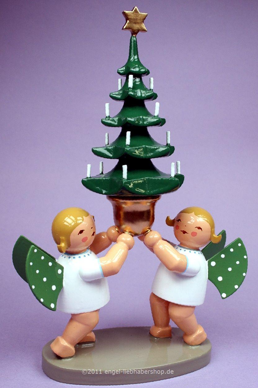 Wendt Und Kühn Weihnachtsbaum.Grünhainichener Engel Engelgruppe Mit Baum Von Wendt Und Kühn