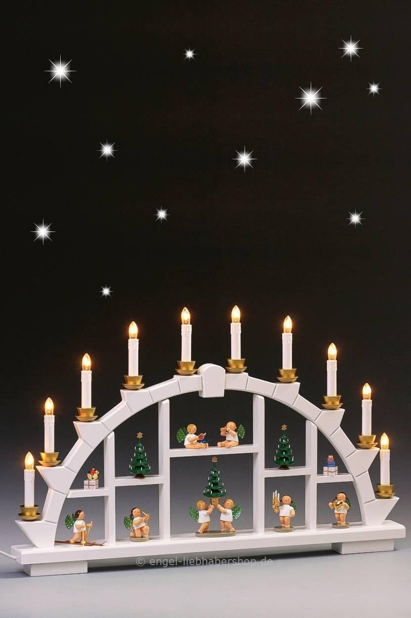 Wendt Und Kühn Weihnachtsbaum.Dekobeispiele Weißer Schwibbogen Mit Grünhainichener Engeln