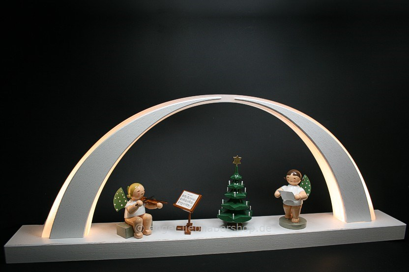 dekobeispiele schwibb gen kleiner led schwibbogen wei weihnachtsst ndchen. Black Bedroom Furniture Sets. Home Design Ideas